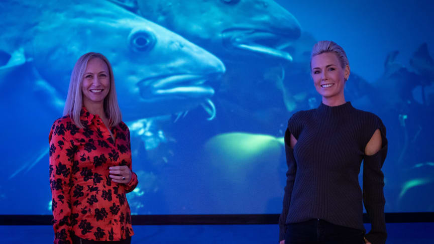 Renate Larsen (NSC) and Gunhild Stordalen (EAT)