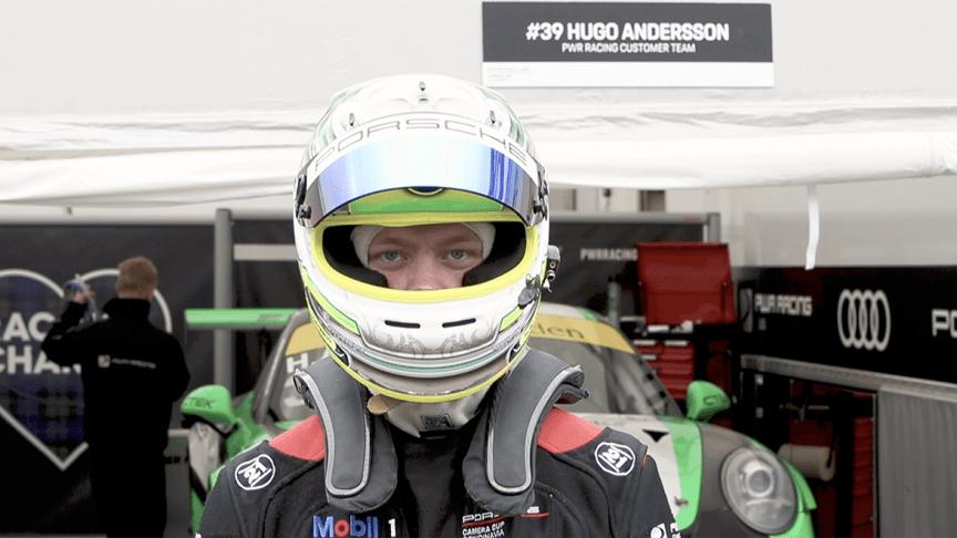 Hugo Andersson blev totalsegrare i sin klass i skandinaviska mästerskapet; Porsche Approved Cup 2019, den här säsongen.