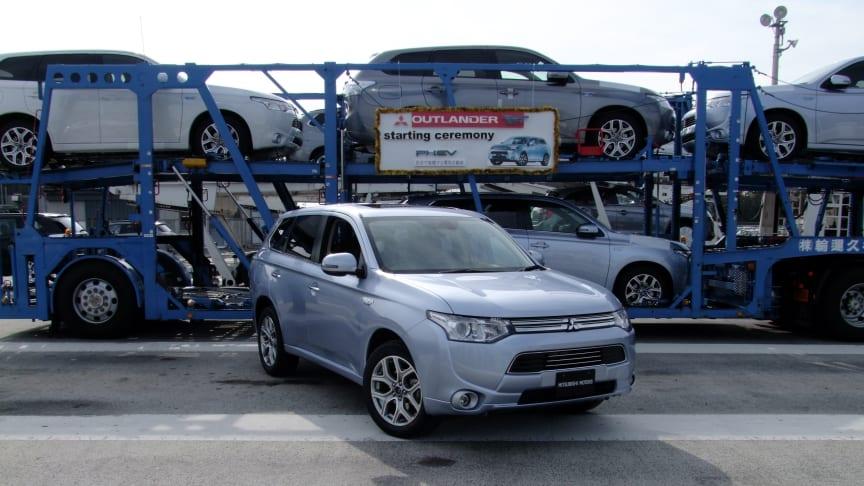 Snart rullar Mitsubishi Outlander plug-in hybrid in i Sverige
