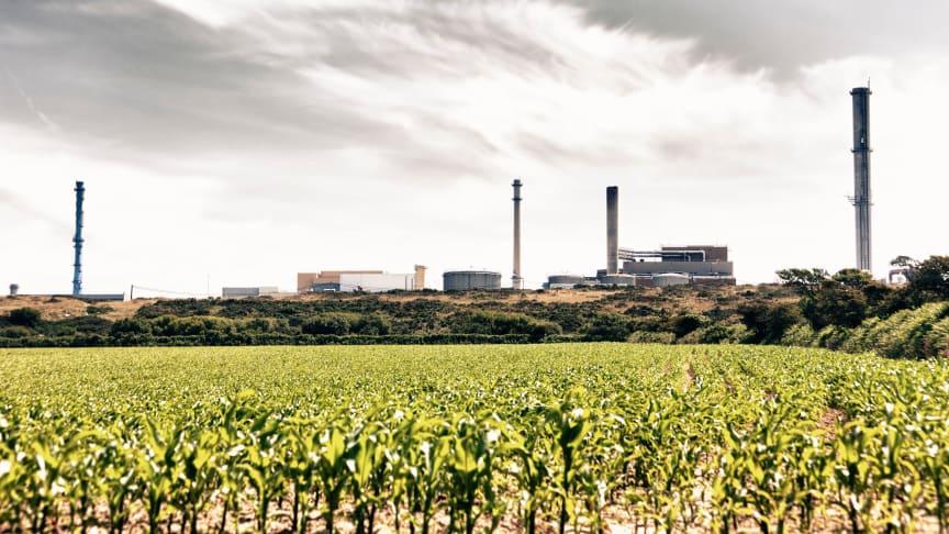 La Hague nuclear fuel reprocessing plant in Normandy, France