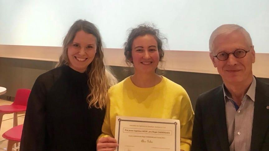 Alice Gebers exjobb hos Bengt Dahlgren vinner pris som Frankrikes bästa exjobb inom VVS & Energi