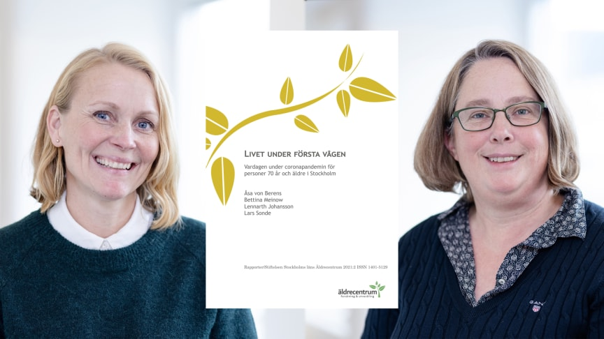Äldrecentrums utredare presenterar den nya rapporten om hur äldre personer upplevde sitt liv med Folkhälsomyndighetens rekommendationer under våren 2020. Foto: Yanan Li.
