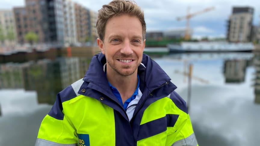 Johan Hansson, byggledare på BoKlok