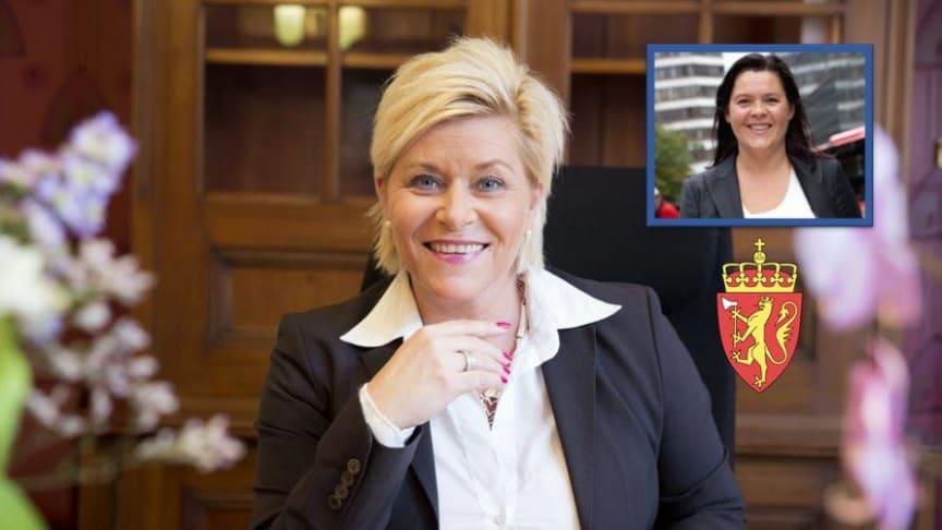 Finansminister Siv Jensen og sjeføkonom i Sparebank1 Elisabeth Holvik, vil gi oss sine prognoser for norsk økonomi i 2020.