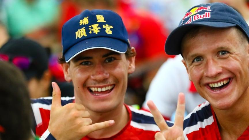 Gustav Iden er svært glad i capsen han fant på bakken i Japan og bruker den mye. Her i Lausanne for to uker siden, før grandfinalen i verdensserien i triatlon.