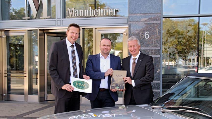 v.l.n.r.: Markenmanager BELMOT Ralf Stumpfernagel, Pressesprecher Roland Koch und Jürgen Wörner, Vorstandsmitglied der MVG