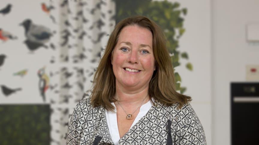 Eva Vidholm, Hölåsen, Hallen är nyinvald i Norrmejeriers styrelse. Foto: Jan Lindmark