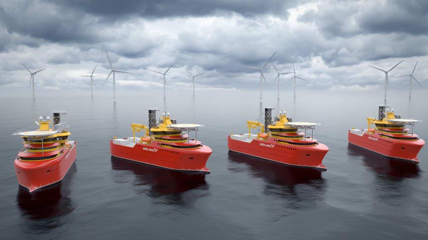 Hydrogenious LOHC Maritime AS skal demonstrere bruk av brenselceller og hydrogen for produksjon av energi på et fartøy. Edda Wind-fartøyene i Østensjø er tilrettelagt for det nye fremdriftssystemet. (Ill. Østensjøgruppen)