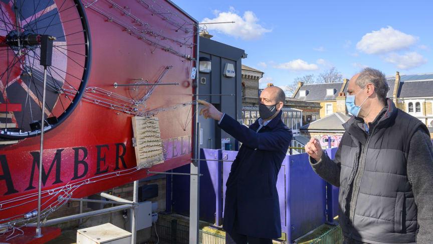 Mechanical marvel: Thameslink MD Tom Moran with Nick Mair, inventor of Denmark Hill station's marvellous marble run