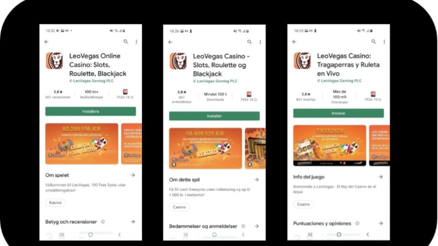 LeoVegas app is now available in Google Play Store in Sweden, Denmark, and Spain.