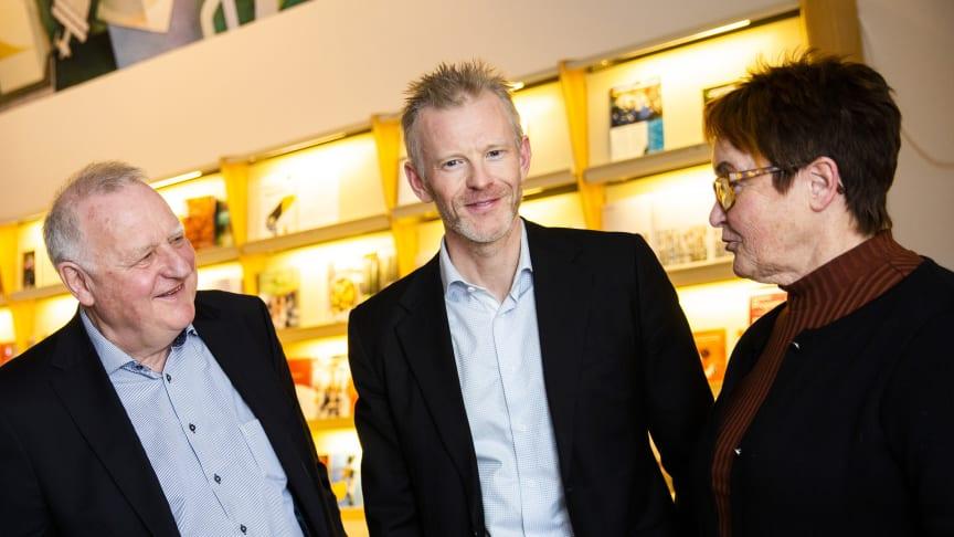 Magnus Viström (mitten) berättar att SCA har ett fortsatt samarbete med flera av de företag som tidigare deltagit i Forest Business Accelerator.