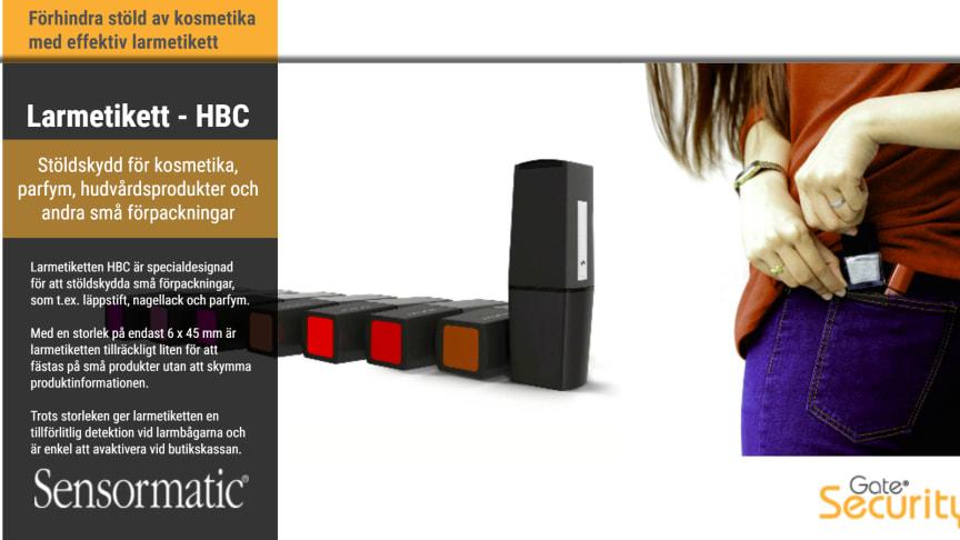 Larmetikett - Sensormatic HBC
