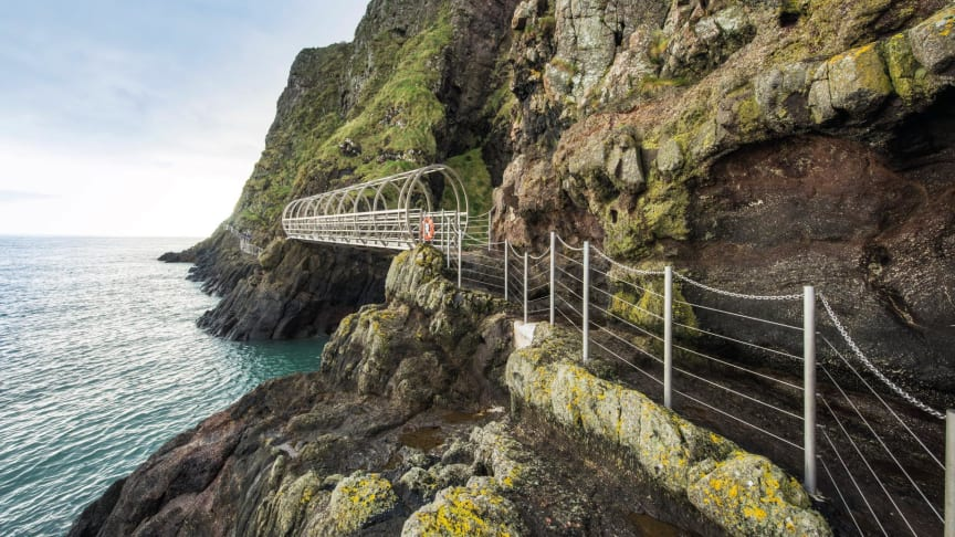 The world-renowned Gobbins Coastal Path is welcoming large numbers of intrepid visitors
