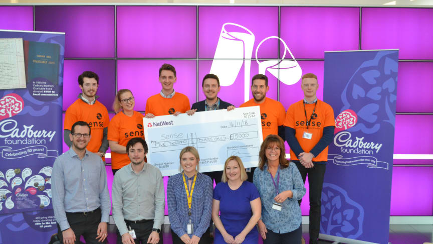 Our Bournville colleagues attend the cheque presentation