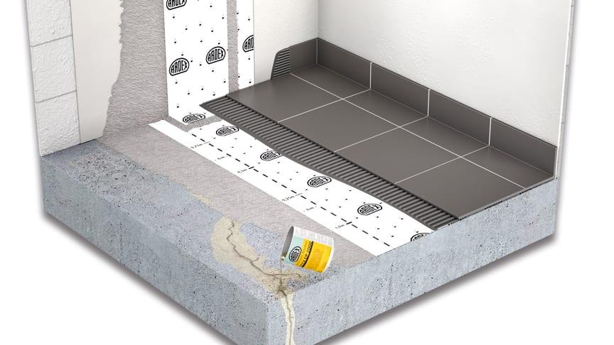 Ett av ARDEX permanenta system för att sänka för höga radonvärden.