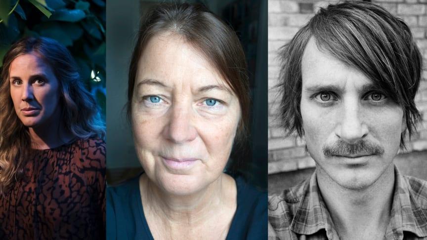 Årets prisvinnare: Anna Tärnhuvud, Kicki Lundgren och Nils Petter Löfstedt. Foto: Olle Wande, Kicki Lundgren, Jan Löfstedt