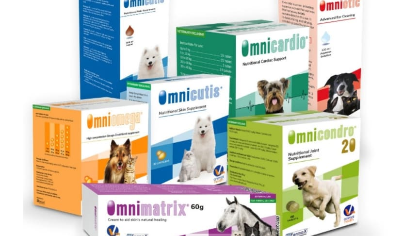 The innovative range includes products to support cardiovascular, joint and skin health in a variety of species