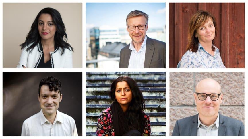 Några av de medverkande: Dona Hariri, Mats Hederos, Gunilla Kindstrand, Leonidas Aretakis, Saadia Hussain och Daniel Lindvall.