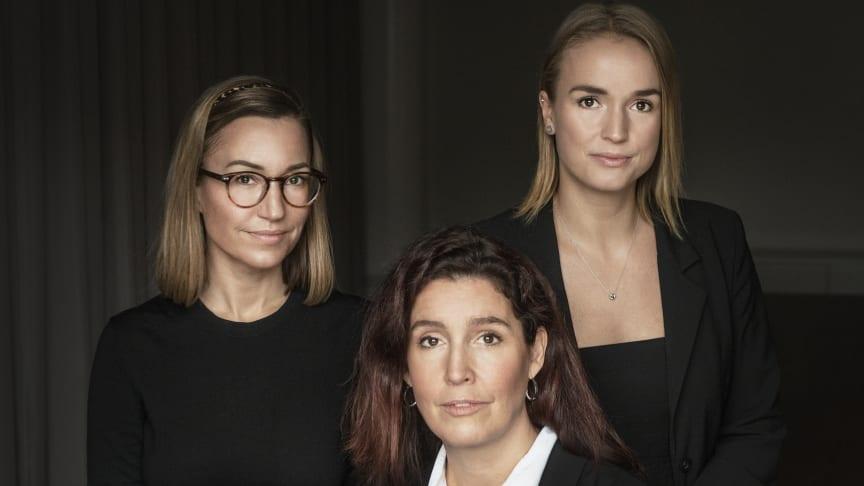 Ylva Hagelbäck, Camilla Löfgren och Lisa Rigfelt är Patriams senaste rekryteringar.