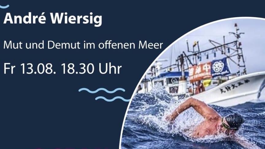 Los geht`s mit André Wiersig, der von seinen Erfahrungen in den Weltmeeren erzählt.