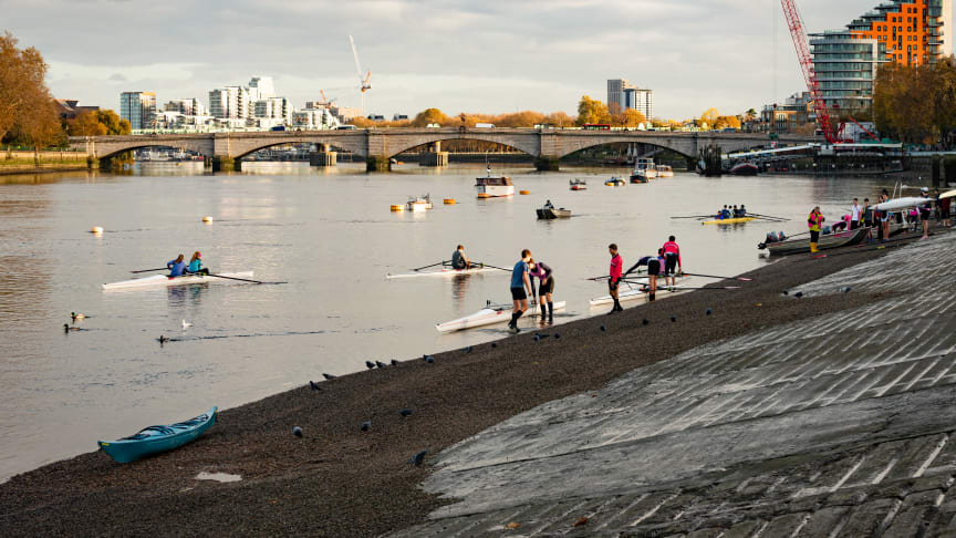 Rowers in Putney. Credit: Port of London Authority