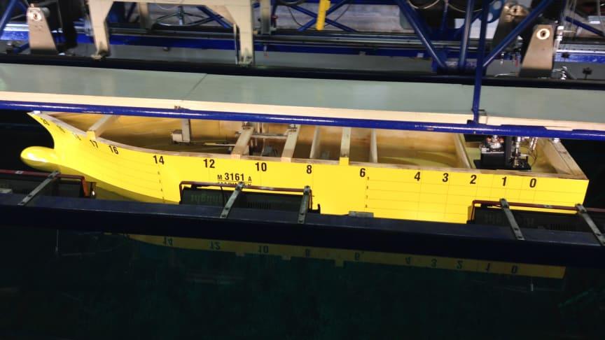 The model tests of the SOV for MHI Vestas demonstrates excellent hull drag
