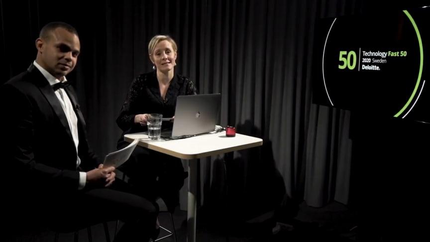 Årets Sweden Technology Fast 50 presenterades i en serie webbsändningar under ledning av Rasmus Dahlberg och Ester Sundström, Deloitte.