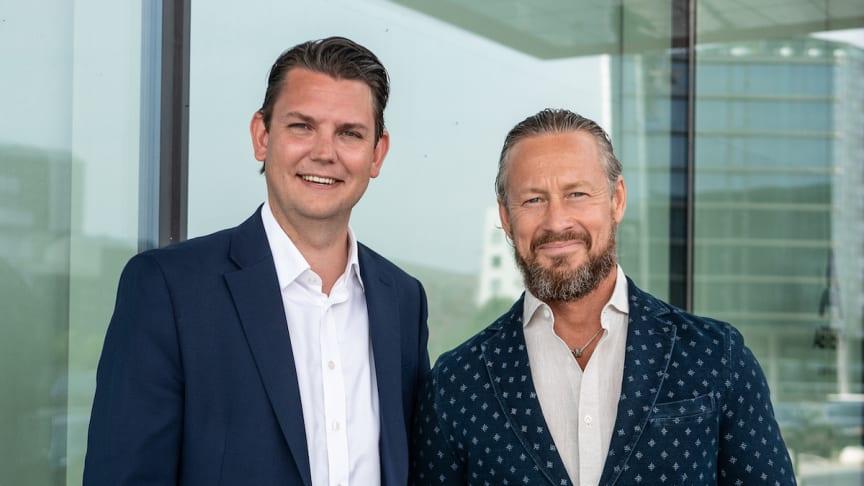 På bilden, David Österlindh (t.v.) som fått förtroendet att leda Sigma IT's satsning på IoT och AI i USA. Här tillsammans med Lars Kry, VD på Sigma IT.