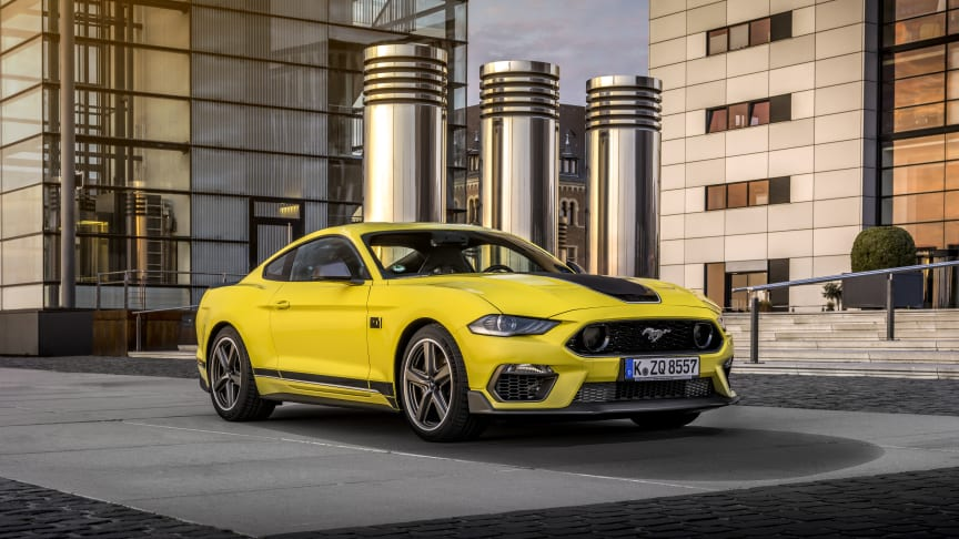 Europa-premiere for den raskeste Mustangen i Europa noensinne: Mustang Mach 1