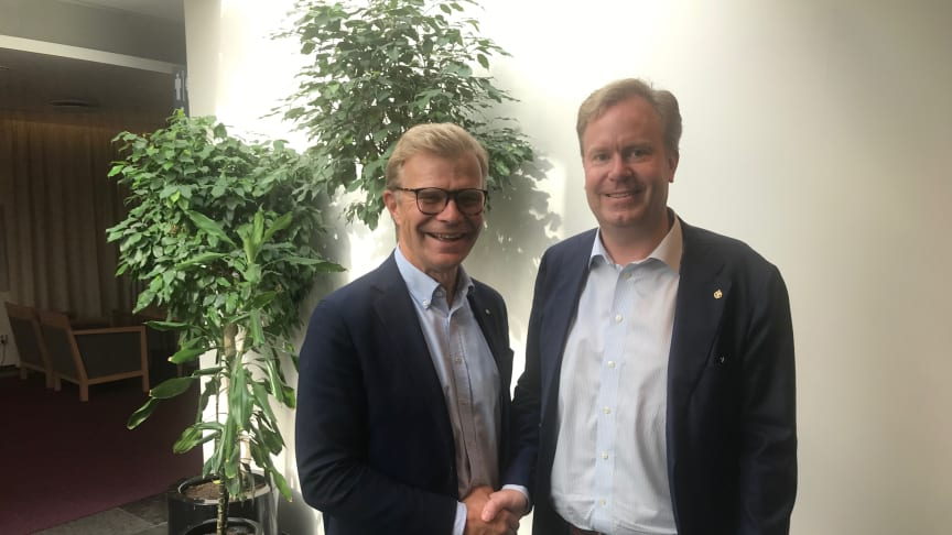 Ola Månsson, vd för Installatörsföretagen, och Johan Lindström, vd för Plåt & Ventföretagen.