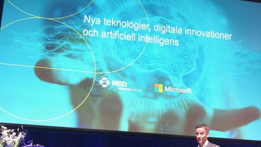 Jakob Tellgren, Nordenchef MSD berättar om digitalisering av hälso- och sjukvården och samarbetet mellan MSD och Microsoft.