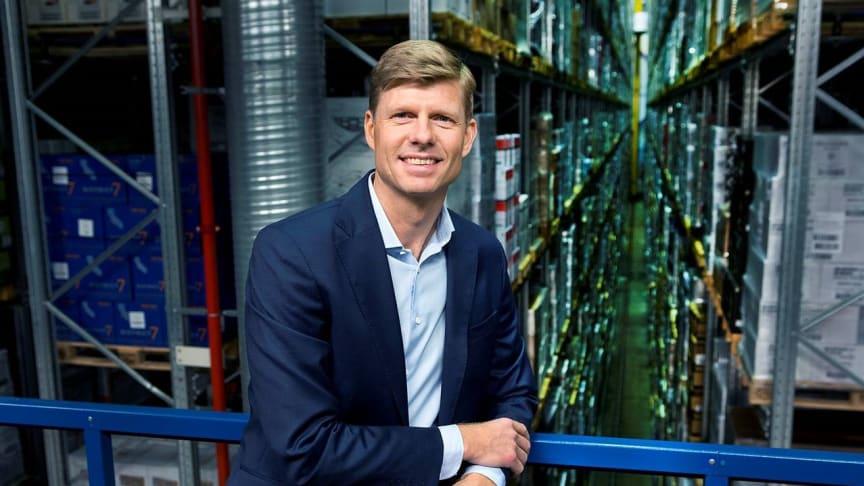 Per Öhagen, koncerndirektör på Bring, ska bygga en ny fullautomatiserad lagerlösning i Stockholm