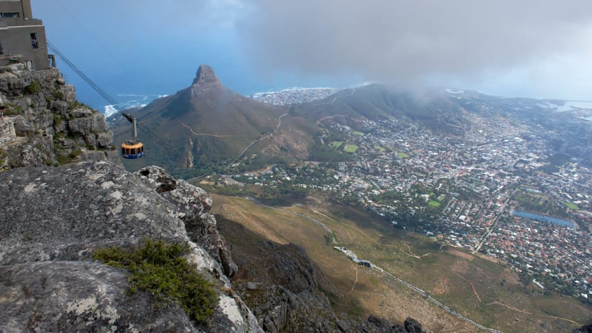 Table Mountain, Cape Town, by cable car
