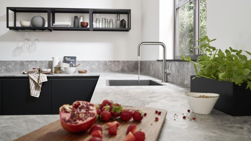 Talis M54 kjøkkenarmatur 220, rustfritt stål