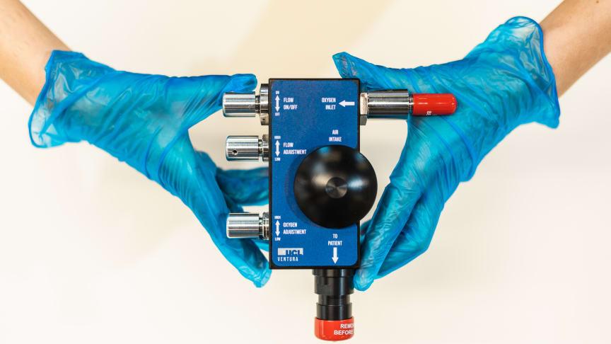 Ett unikt samarbete mellan University College of London (UCL) och Formel 1 har lett till att en CPAP-maskin för andningshjälp för COVID-patienter togs fram på bara 100 timmar. Foto: James Tye / UCL.