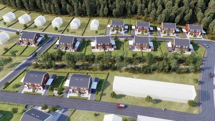 Brf Koltrasten säljstartar den 9 juni och blir 22 bostäder i parhusformat. Projektet är del av OBOS utveckling i området om sammanlagt 140 nya bostäder.
