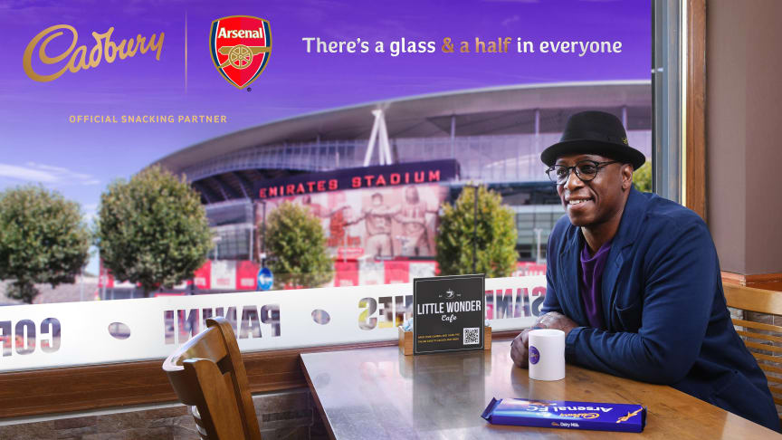 We're proud to announce our partnership with Arsenal, supporting community workers & local businesses, incl. fan fave the Little Wonder Café. We're donating 500 meals to AFCCommunity & Arsenal legend & Cadbury ambassador Ian Wright helped us