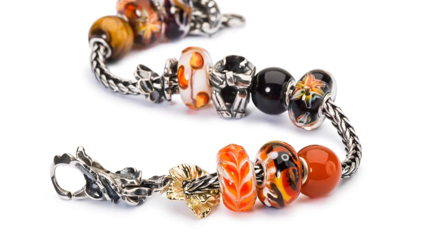 A bracelet styled with beads from the Golden Nightfall collection