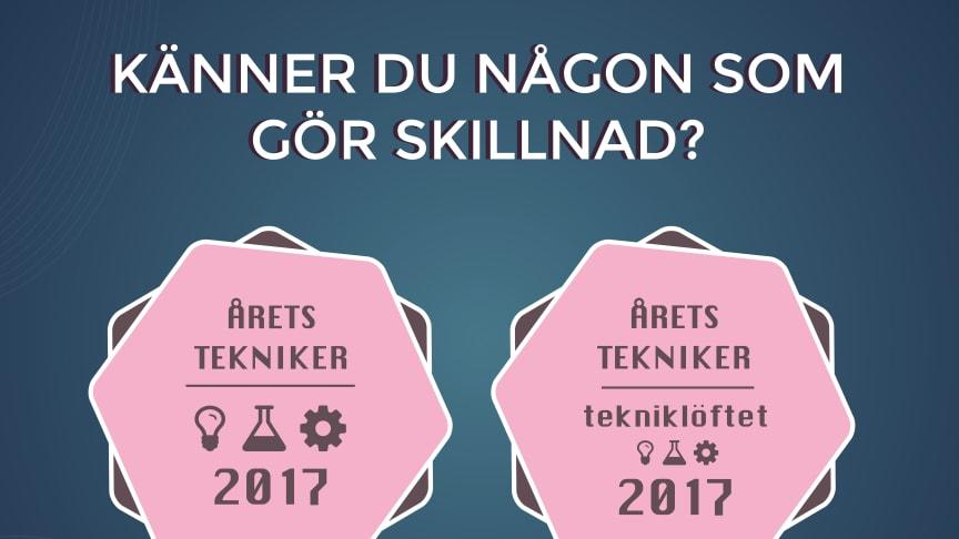 Nu börjar sökandet efter Årets Tekniker och Årets tekniker – Tekniklöftet 2017!