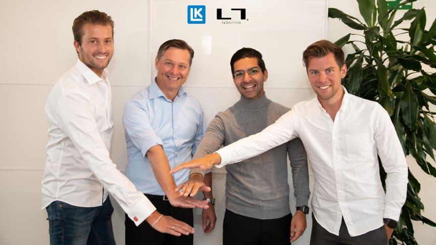 From the left, Thibault Helle, Michael Söderberg, Ramtin Massoumzadeh and Olle Henning.