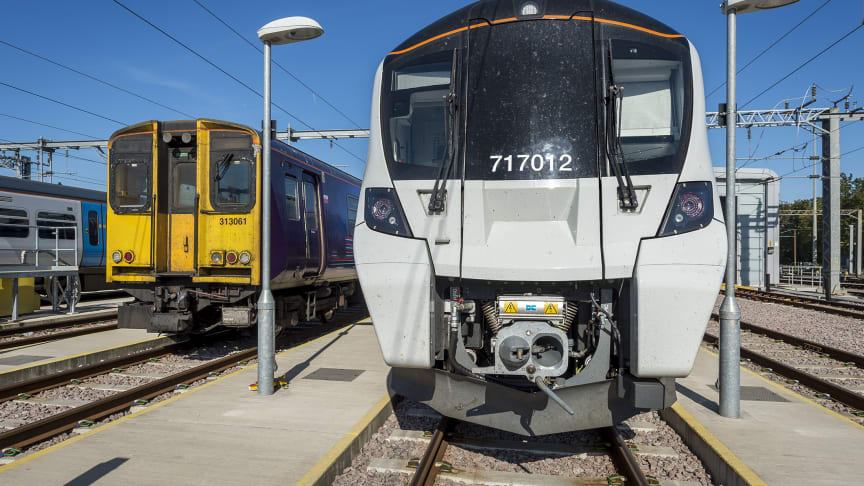 Old meets new: Old Class 313s have been replaced with new Class 717s on the Moorgate route as GTR completes its £2bn rolling stock programme