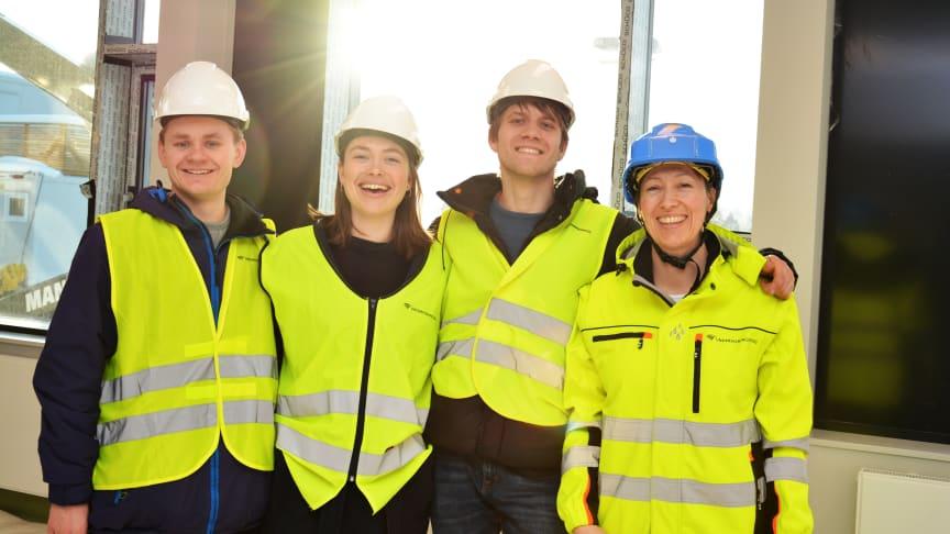 Ole Erik Lunder, Emilie Hernes Vereide og Hauk Are Fjeld sammen med Bodil Motzke.