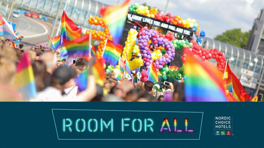 """Med budskabet """"Room for all"""" hylder hotelkæden mangfoldigheden blandt ansatte og gæster."""