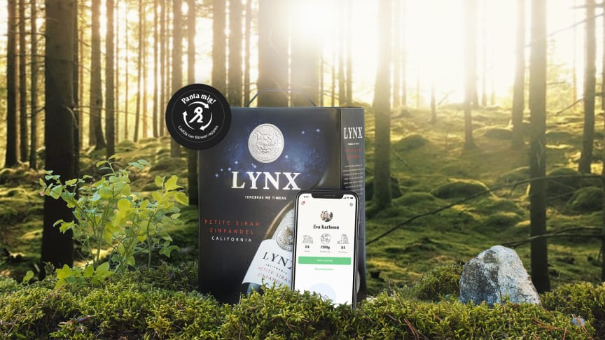 LYNX lanserar Sveriges första pantbara vinförpackningar