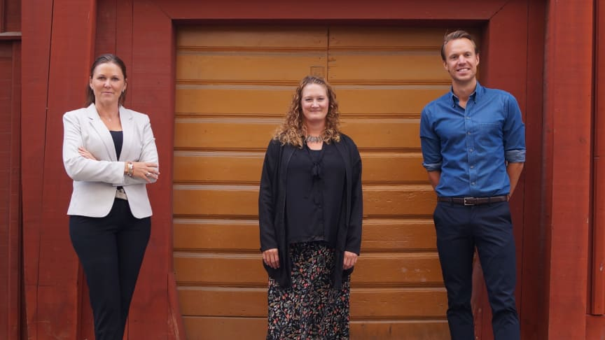 Från vänster: Anna Lakmaker, Destination Sigtuna, Karin Engman Carlsson, Hyper Island & Alexander Kercevic, Destination Sigtuna