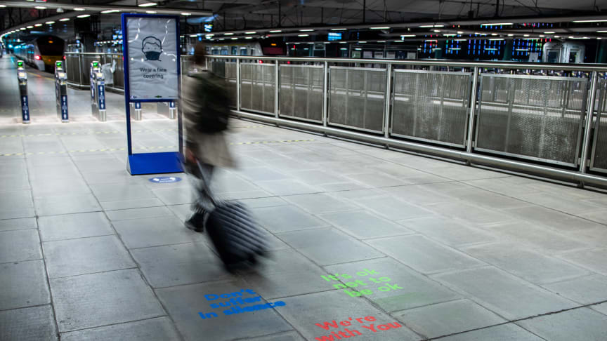 Affirmation Art appears at Blackfriars station on World Suicide Prevention Day. More images available below.