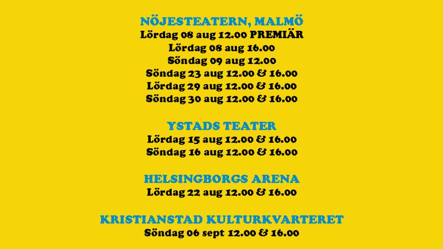Nya föreställningsdagar för Pippi Långstump