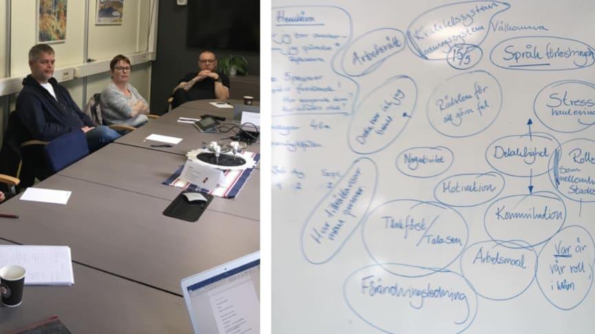 Workshops I ledarskap vid Lindemaskiner i Lindesberg.