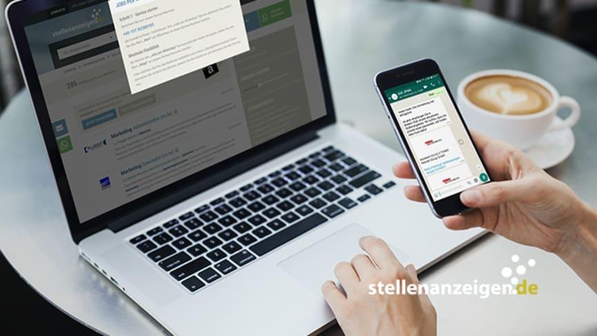 Jobs per WhatsApp: der neue Service von stellenanzeigen.de