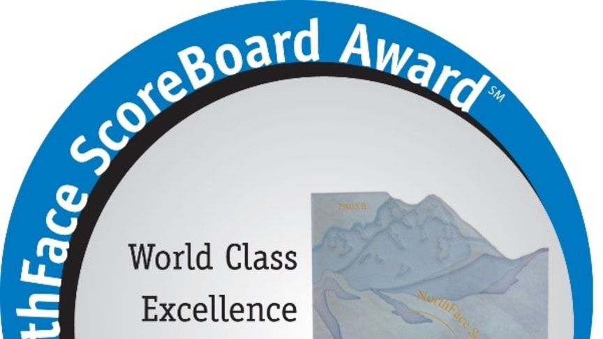 The NorthFace Scoreboard Award has been presented annually since 2000